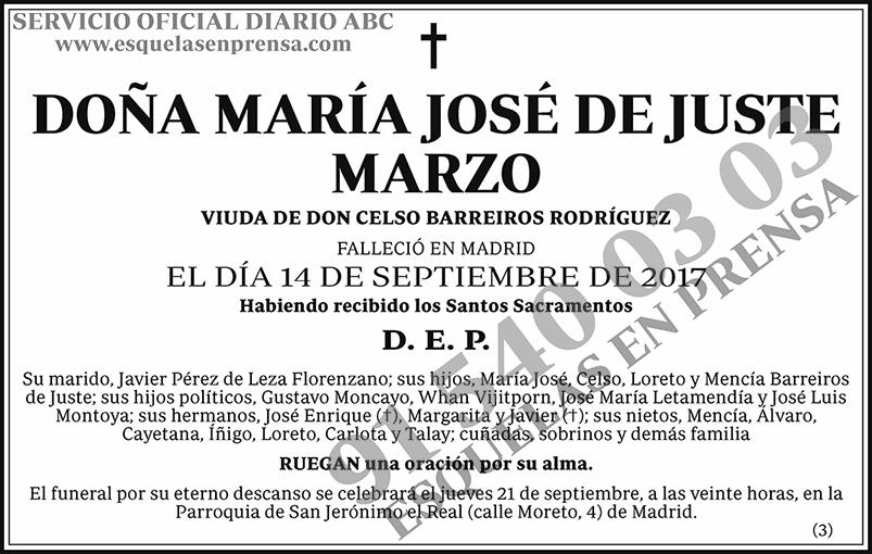 María José de Juste Marzo